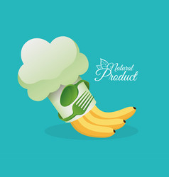 Healthy food natural product design vector