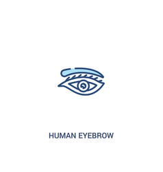 Human eyebrow concept 2 colored icon simple line vector