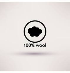 Icon of 100 wool Isolated vector image