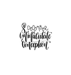 immaculate conception hand lettering vector image