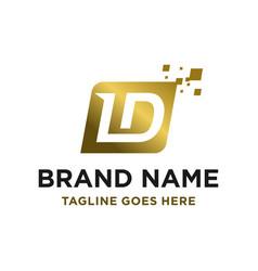 initial logo ld vector image