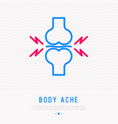 Joint pain thin line icon vector