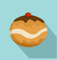 Judaism sweet bakery icon flat style vector