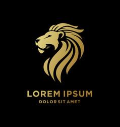 King lion head logo template vector