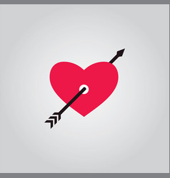 love arrow valentine vector image