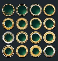 luxury golden design elements collection 9 vector image