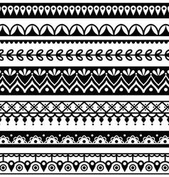 Mehndi Indian Henna tattoo seamless pattern vector image