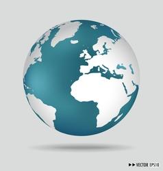 Modern globe vector