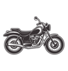 Motorcycle monochrome detailed vector