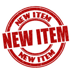 new item sign or stamp vector image