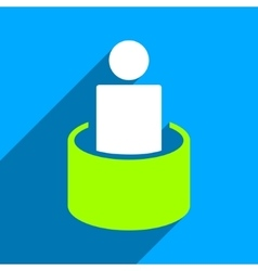 Patient Isolation Flat Square Icon with Long vector
