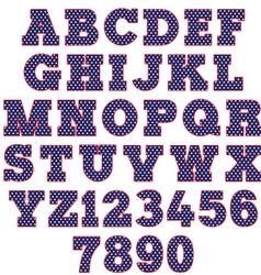 polka dot alphabet vector image