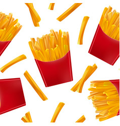 realistic detailed 3d french fries seamless vector image