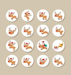 Reindeer icons vector