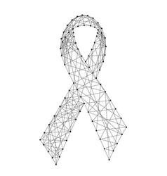 ribbon symbol of the fight against aids from vector image