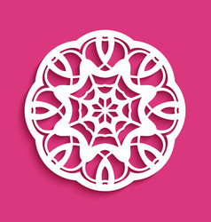 Round lace ornament vector