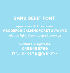 sans serif modern typeface vector image