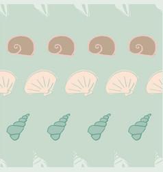 Sea shells seamless pattern design vector