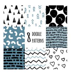 Set eight seamless patterns vector