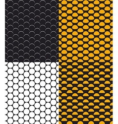 Set of Abstract Dotted Seamless Pattern vector image