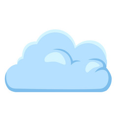 single blue cloud icon vector image