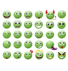 smile green full vector image