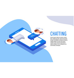 social networking concept chatting vector image