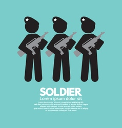 Soldiers with guns symbol vector