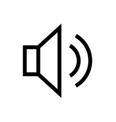 Sound and volume outline icon vector
