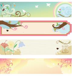 spring season banner vector image