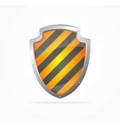 Striped Shield vector image