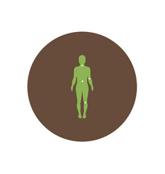 Stylish icon in color circle body osteoarthritis vector