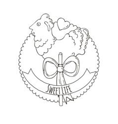 Sugar Cockerel Background vector