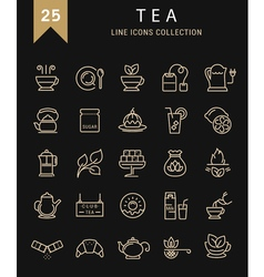 Tea Line Icons 9 vector image