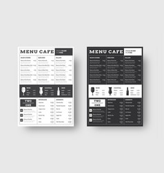 template menu for cafes and restaurants with a vector image
