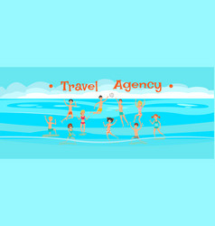 travel agency banner flat template vector image