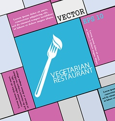 vegetarian restaurant icon sign Modern flat style vector image