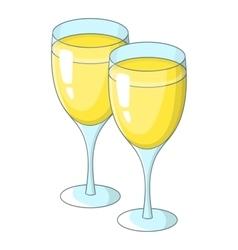 Wedding glasses icon cartoon style vector