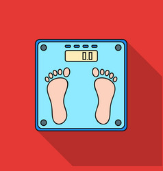 weighing scale icon in flat style isolated on vector image