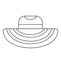 Women beach hat icon outline style vector