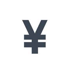 yen related glyph icon vector image