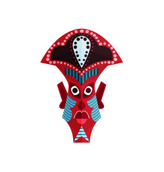 zulu mask with traditional ornament aboriginal vector image