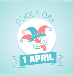1 april fools day linear vector image