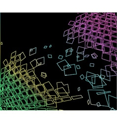 abstract grungy geometric background vector image