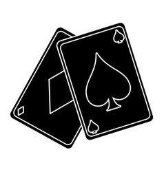april fools day card aces pictogra vector image
