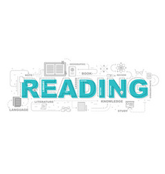 design concept of word reading website banner vector image