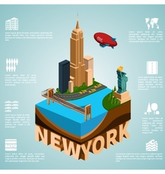 Isometry city New York vector image