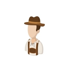 Man in traditional Bavarian costume icon vector image vector image