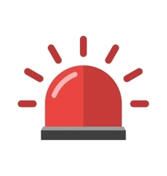 Police or ambulance red flasher siren alarm icon vector image vector image