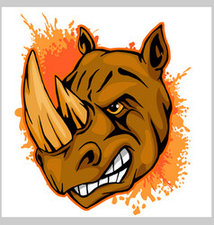 rhino athletic design complete with rhinoceros vector image